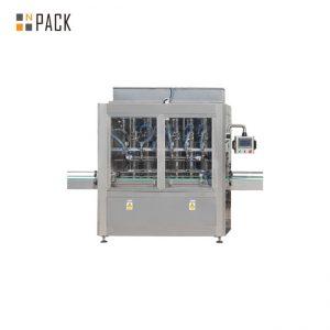 دستگاه پر کننده بطری جاذبه PLC 10 Heads برای پاک کننده سفید کننده 1 - 5L