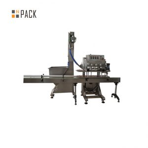 PLC Control Single Head Rotary Capping Machine 50 CPM سرعت با سروو موتور محور