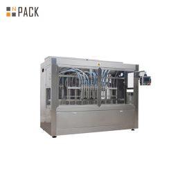 کنترل PLC به موقع دستگاه پر کننده مایع کاملاً اتوماتیک 16 سر برای مواد شیمیایی مزرعه