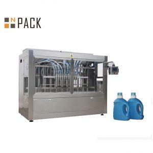 خط پر کننده بطری های صنعتی / خط پر کردن پودر لباسشویی با موتور و صفحه لمسی سروو