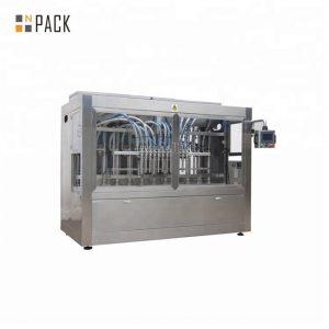 دستگاه پر کردن مواد شوینده مایع لباسشویی 0.5-5L قطره قطره 12 نازل 3000 B / H