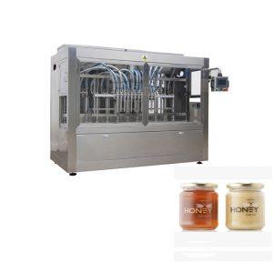 PLC Control 8 دستگاه پر کننده خمیر نازل ، دستگاه پر کننده شیشه جام جم 400G