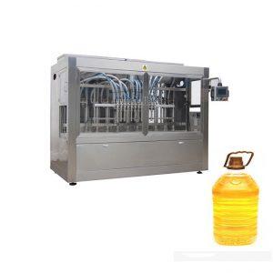 خط پر کننده اتوماتیک اتوماتیک صنعتی با دستگاه پر کردن پیستون و لیبل اتوماتیک بطری