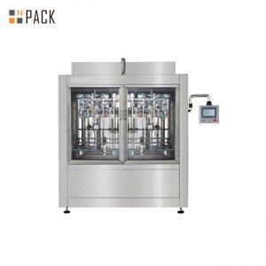 دستگاه پر کننده مایع اتوماتیک با دقت بالا پر کننده با تکنولوژی بالا برای سفید کننده / اسید