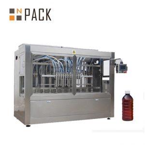 دستگاه پر کننده مایع اتوماتیک خطی 8 هد برای مواد شیمیایی / کود / سموم دفع آفات
