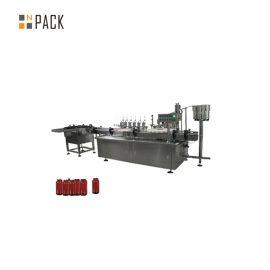 دستگاه پرکننده خمیر کنترل اتومبیل سروو ، دستگاه پر کننده کرم آرایشی و بهداشتی 5 گرم 100 گرم شیشه