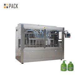 دستگاه پر کننده مایع با ویسکوزیته بالا 16 پیازون برای صابون مایع 100ml-1L / لوسیون